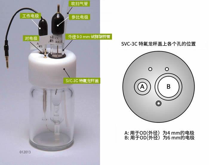 SVC-3C无氧型伏安电化学池