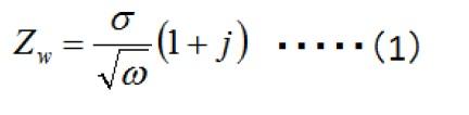 式14-1  Warburg阻抗(Zw)表达式