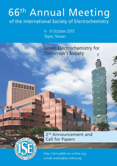在台湾台北市召开的国际电化学协会ISE第66届年会