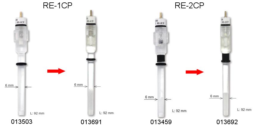 RE-1CP(Ag/AgCl/饱和KCl) 和 RE-2CP 参比电极产品更新