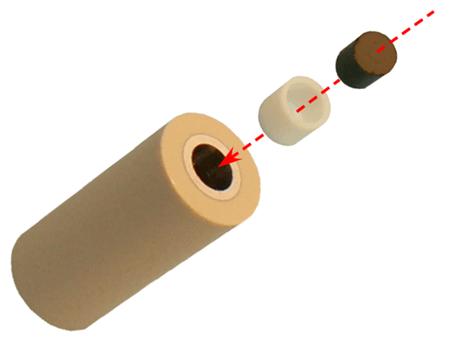 DRE 电极结构示意图