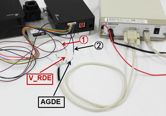 图2-5  SEC2020触发控制输入线和 Model 2325触发控制输出线对接完成